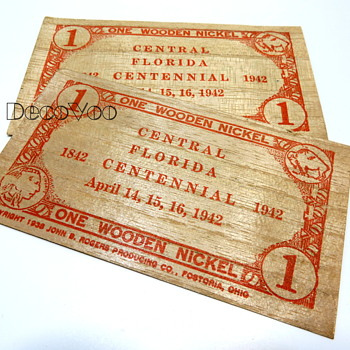 Wooden Nickel 1942 - Advertising
