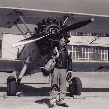 Grandfather and his plane...  - Photographs
