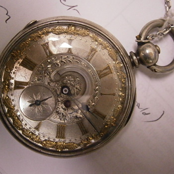 Pocket Watch with thermometer
