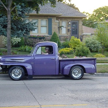  Old 1949 Ford Pick up ! My color too Purple - Classic Cars