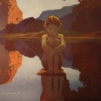 Maxfield Parrish's 'Evening' - original House of Art, NY Print