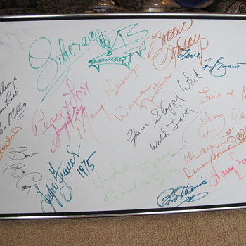 Las Vegas Entertainer's Autographs - Posters and Prints