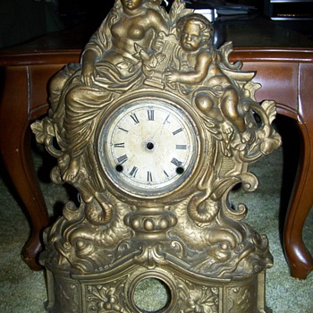 Angel /Cherub Cast Iron Wall clock case - Clocks