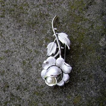 Crown Trifari Rose Brooch