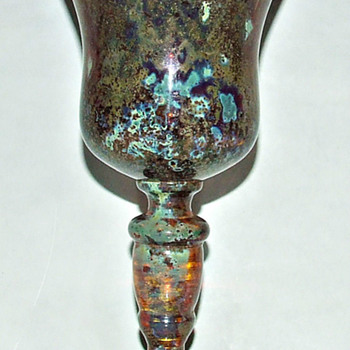 BOUDNIK/KNICEK CZECH GLASS GOBLET. - Art Glass