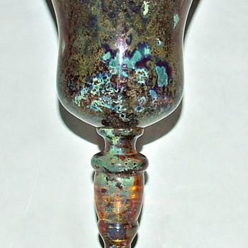 BOUDNIK/KNICEK CZECH GLASS GOBLET.
