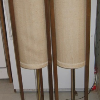 Danish Modern Sculptural Wood Floor Lamps - Mid Century Modern