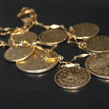 Goldette Persian Coin Inspired Necklace - Costume Jewelry