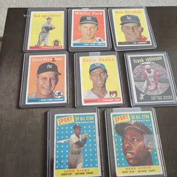 1958 Topps Hall Of Fame Baseball Card Lot - Baseball