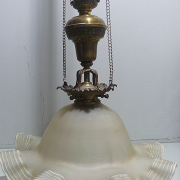 art nouveau or victorian lamp