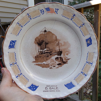 WW1 Battleship Advertising Plate