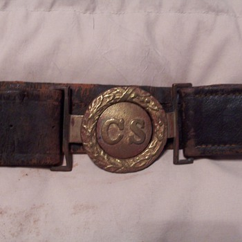 Confederate Belt and Picture