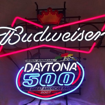 BUDWEISER DAYTONA 500 Neon Sign - 2007 - Signs