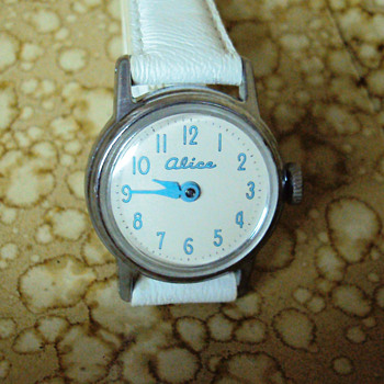 "1960 ""Name Only"" Alice in Wonderland Watch - Wristwatches"