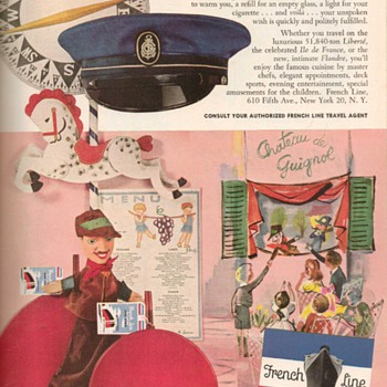 1953 - French Line Advertisement - Advertising