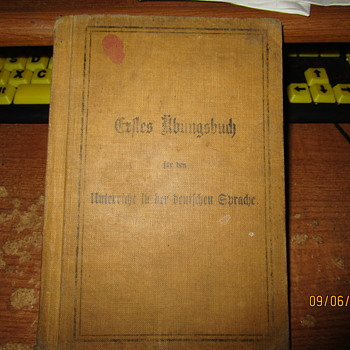 Antique German language book