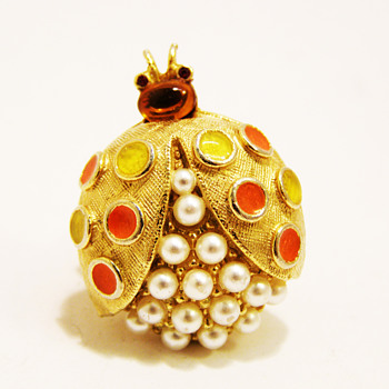 Vintage Florenza Ladybug Ring - Costume Jewelry