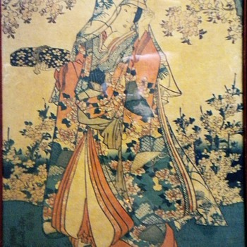 Kunisada triptyich  - Posters and Prints