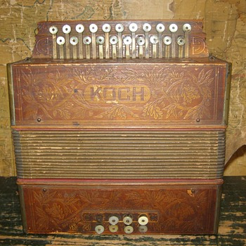 1920's Koch button accordion