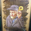 Old Man with Ear Trumpet Painted on Horse Hair