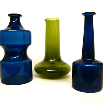 Collection of Timo Sarpaneva Decanters by Iittala - Art Glass