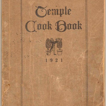 1921 - Temple Cook Book - Books