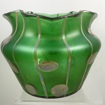 Streifen & Flecken Vase, ca. 1900 - Medeu Commission - Loetz or Kralik?