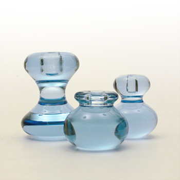 AKVA candleholders, Per Ltken (Holmegaard, 1973) - Art Glass