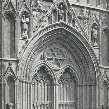 YORK MINSTER, W. PORCH  - Postcards