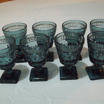 Blue colored Wine goblets - Glassware
