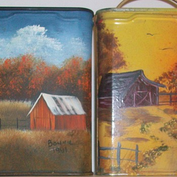 Painted over Prince Albert Pocket Tins