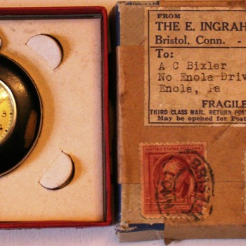 1942 Ingraham Pocket watch in the original box