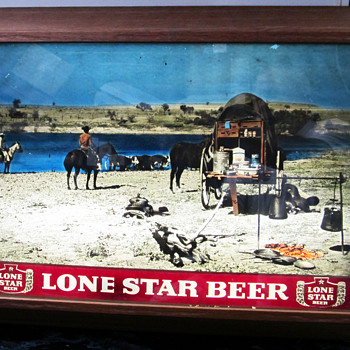 LONE STAR BEER LIGHT UP SIGN, MADE BY FOTO VUE,WEATHERFORD,TX.