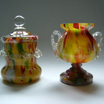 Welz Lidded Jar and Trophy Vase - Art Glass