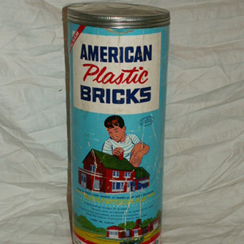 Antique/Vintage Halsam Products Co. ~ American Plastic Bricks - Toys