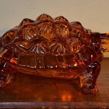 """Knobby Back Turtle,"" was made for L. G. Wright Glass by Fenton - Art Glass"