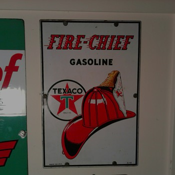 Texaco Pump Signs