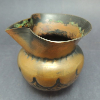 Small Copper/Brass Creamer