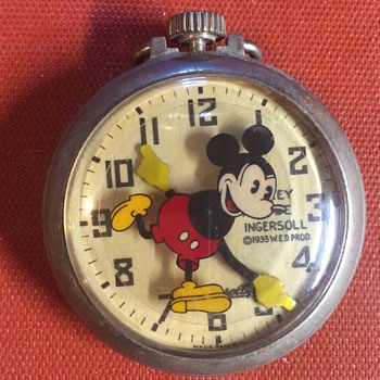 Vintage Mickey Mouse Pocketwatch - VERY unusual