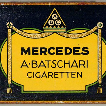 "1920's - A. Batschari ""Mercedes"" Cigarettes Tin"