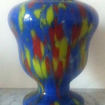 Czech Art Deco export vase - Art Glass