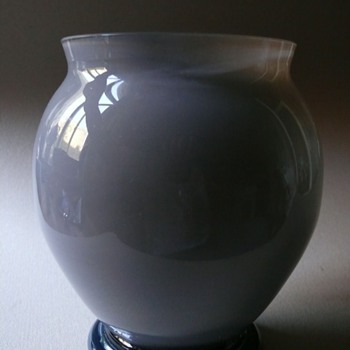 cased and partially iridescent vase