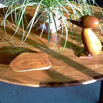 Danish Modern Ducks, Coasters, and Table - Mid-Century Modern