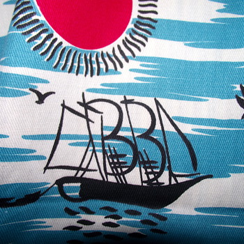 Fun Vintage Fabric--South Pacific/Tiki funk - Rugs and Textiles