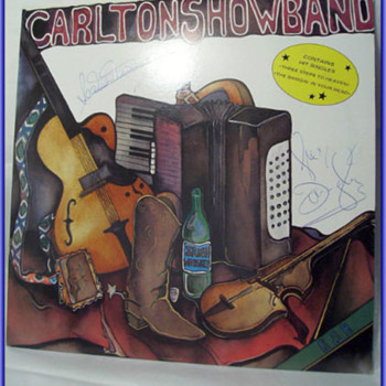 The CARLTON SHOWBAND -- Lp Record ( and Autographed ) - Records