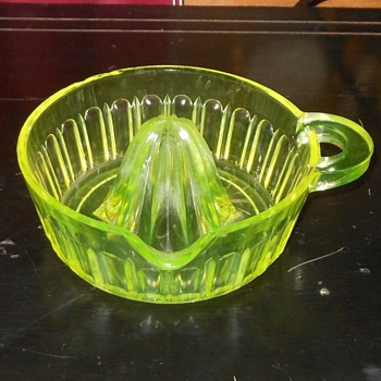 Vaseline Glass Reamer H. C. Fry Glass