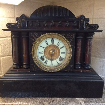 Ansonia mantel clock - New York - Patent date June 18 1882 - cast iron