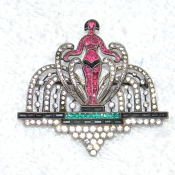 Fav. art deco brooch - Art Deco