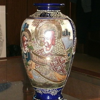 Japanese Satsuma Moriage Vase - Asian