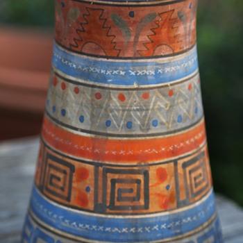 Aztec Pottery Vase - Tonala, Mexico - Art Pottery
